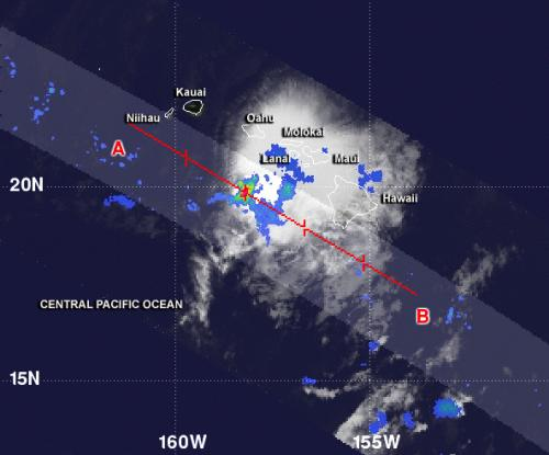 NASA sees little rainfall in Tropical Depression Flossie