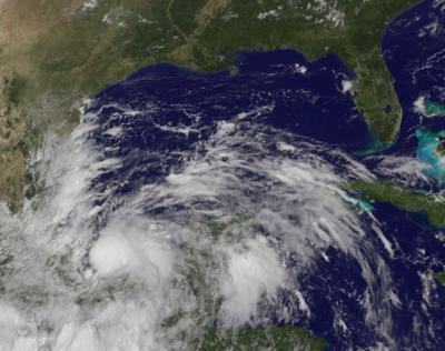 NASA sees system 93L become Tropical Storm Ingrid, now soaking eastern Mexico