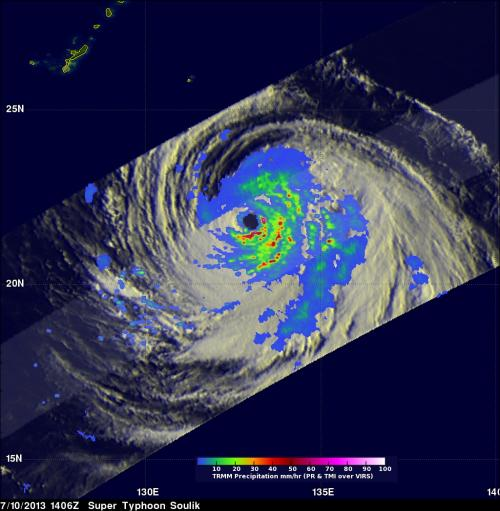 NASA sees Typhoon Soulik's eye closed for 'renovations'