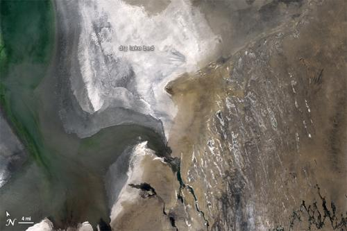 NASA's Landsat satellite looks for a cloud-free view