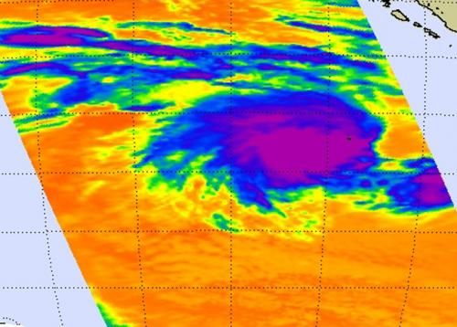 NASA spots active Southern Indian Ocean's Tropical Storm 18S