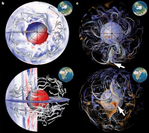 Researchers use centuries of data to map Earth's westward magnetic field drift