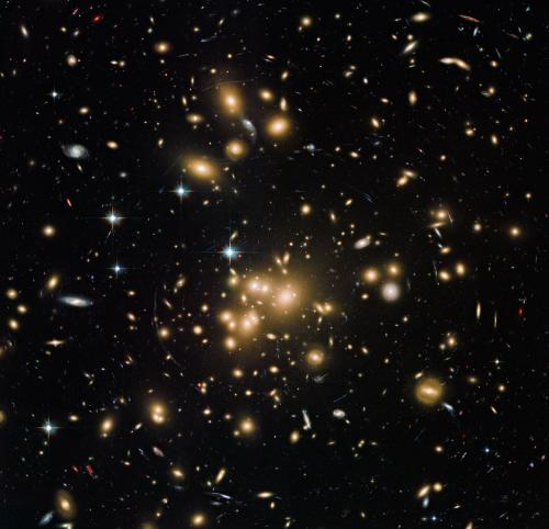 New Hubble image of galaxy cluster Abell 1689