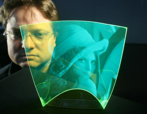 New imaging device that is flexible, flat, and transparent
