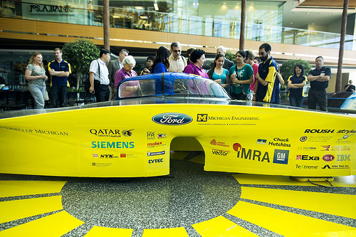 New solar car has sleek, asymmetrical design