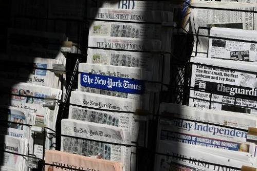 Newspapers are displayed at a newsstand October 26, 2009 in San Francisco, California