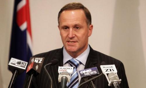 New Zealand's Prime Minister John Key speaks to the media in Wellington on October 27, 2010