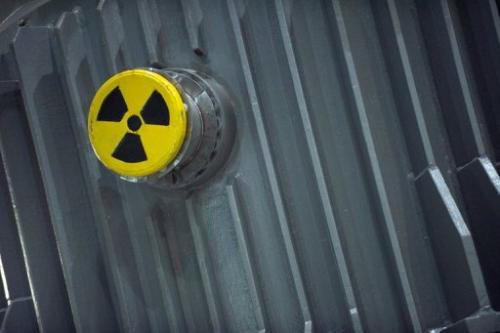 Nuclear waste at a storage facility in Lubmin near Greifswald, Germany, on July 25, 2011.