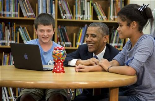Obama pushes plan for fast Internet in US schools