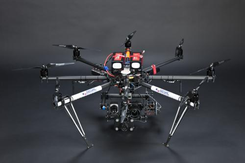 Octocopter to monitor crops