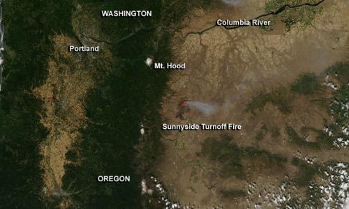 Oregon's Sunnyside Turnoff Fire
