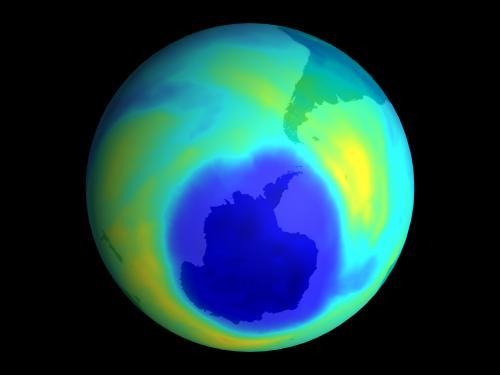 Ozone hole might slightly warm planet