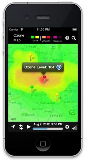 'OzoneMap' app delivering real-time air quality reports