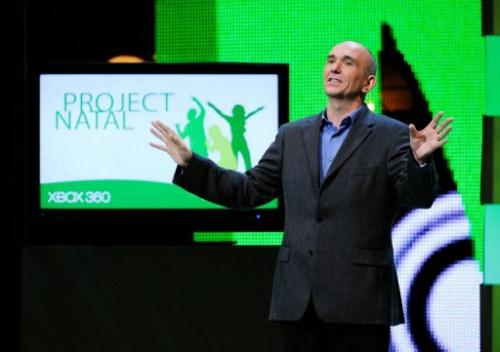 Peter Molyneux at a Microsoft's XBox 360 media briefing on June 1, 2009 in Los Angeles, California