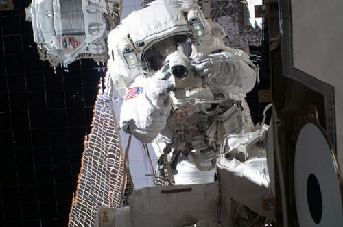 Physicists and astronaut discuss cosmic ray detector's findings of possible signs of dark matter