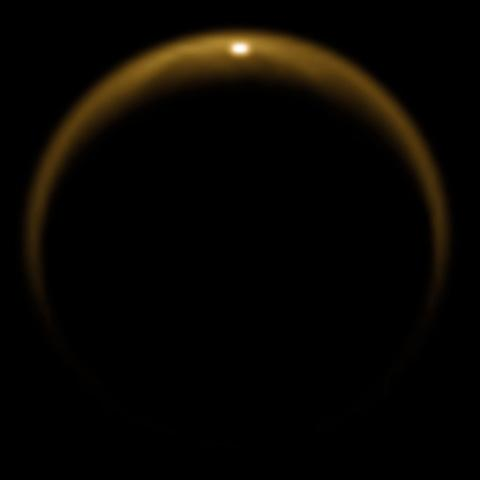 Cassini sees Titan cooking up smog