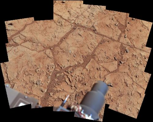 Curiosity rover collects first martian bedrock sample
