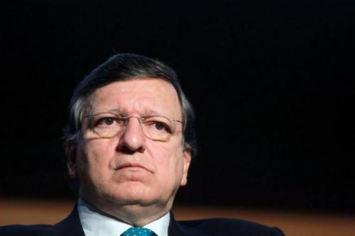 President of the European Commission Jose Manuel Barroso in Dublin, Ireland, on February 28, 2013