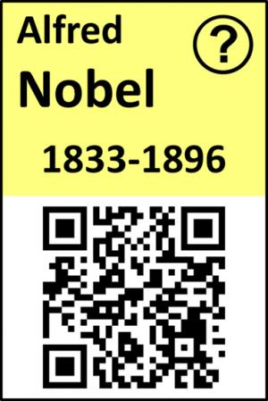 QR code access to Nobel Prizes in Chemistry