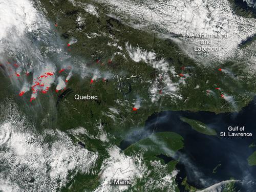 Quebec fires continue raging
