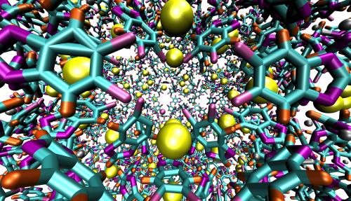 Rice University method gives accurate picture of gas storage by microscopic cages