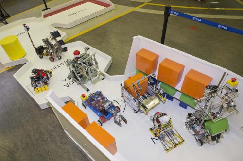 Robot challenge: Unload a spacecraft