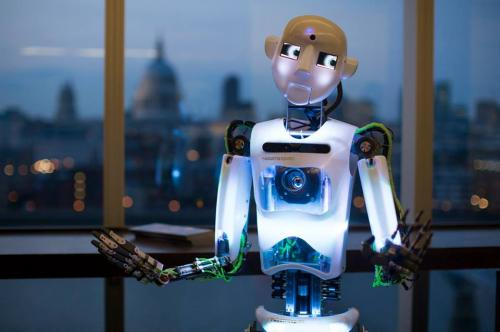 Robot does standup for London audience (w/ Video)