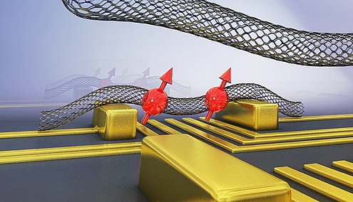 Scientists realize quantum bit with a bent nanotube