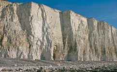 Salt causes chalk cliffs to collapse