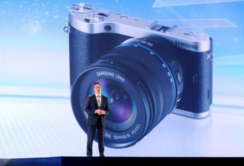 Samsung Electronics' Michael Abary at a press event for the International CES on January 7, 2013 in Las Vegas