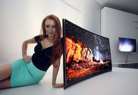 Samsung's curved OLED TV boasts immersive viewing experience by creating panorama effect