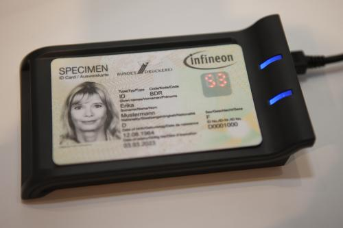 Security card with a one-time password and LED display