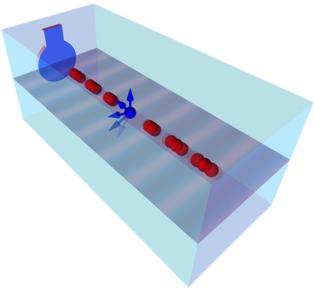 'Shaken, not stirred': Oscillator drives electron spin