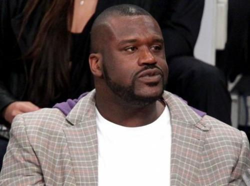 Shaquille O'Neal at the Staples Center on February 19, 2011 in Los Angeles, California