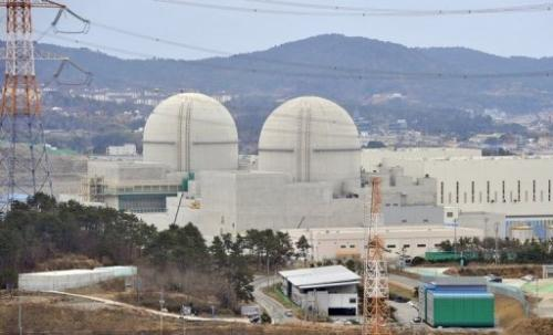 Shin-Kori 3 and 4 reactors under construction on February 5, 2013 at South Korea's Gori nuclear power plant