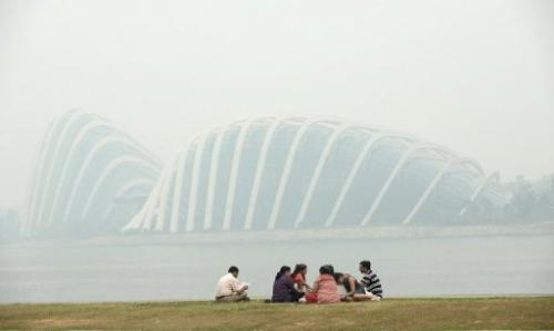 Singapore is shrouded in haze on June 20, 2013