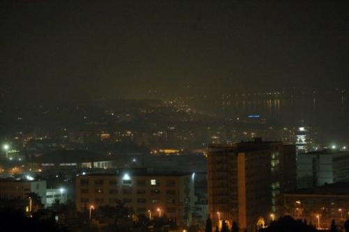 Smog clouds a view of centre and east Thessaloniki, Greece, on January 2, 2013