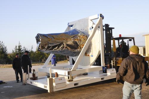 Solar Satellite Arrives at Vandenberg AFB for Launch
