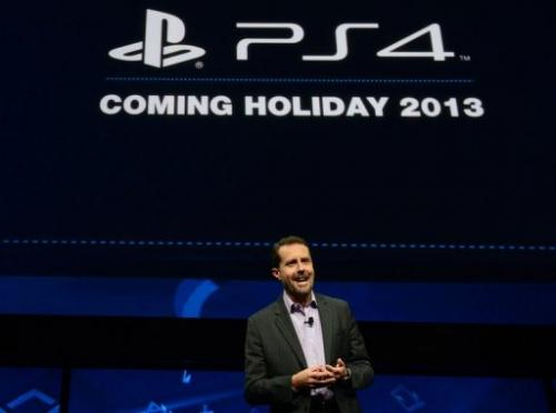 Sony's Andrew House introduces the PlayStation 4 at a news conference February 20, 2013 in New York