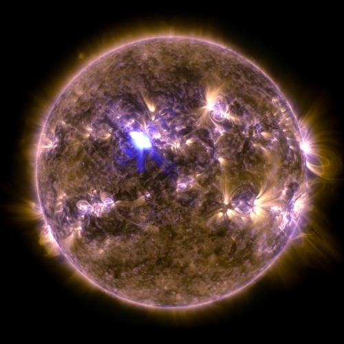 Spring fling: Sun emits a mid-level flare