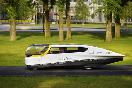 Student team unveils world's first solar-powered family car