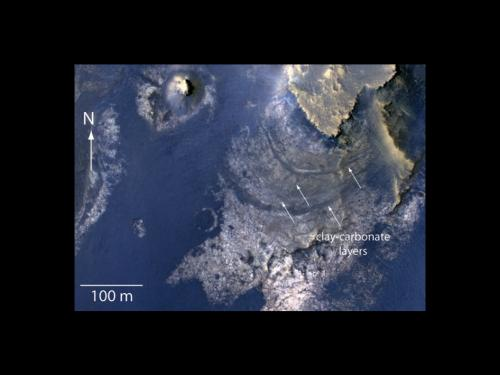 Study: Martian crater may once have held groundwater-fed lake