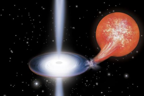 Astronomers reveal contents of mysterious black hole jets
