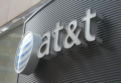 The AT&T logo is seen in this June 2, 2010 file photo in Washington DC