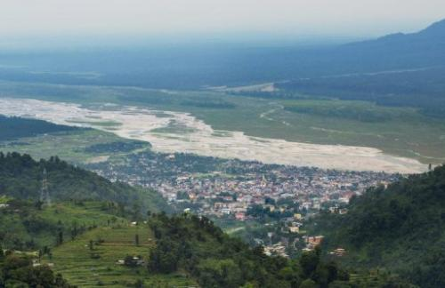 The Bhutanese border city of Phuentsholing  pictured on May 29, 2013