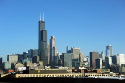 The Chicago skyline is seen from I-90 December 24, 2011 in Chicago, Illinois.