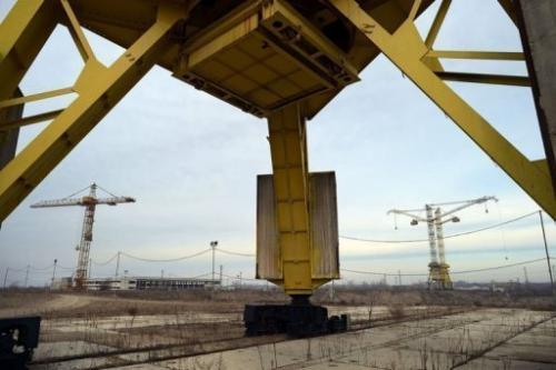 The construction site of Bulgaria's second nuclear power plant in the town of Belene on January 24, 2013
