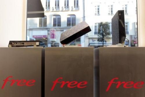 The Freebox Revolution terminal of French Internet service provider Free is displayed in a shop in Rouen, November 2011