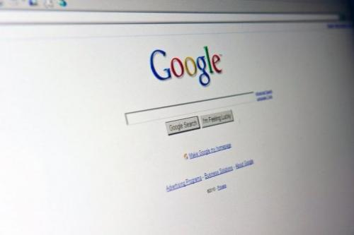 The Google search page appears on a computer screen in Washington on August 30, 2010