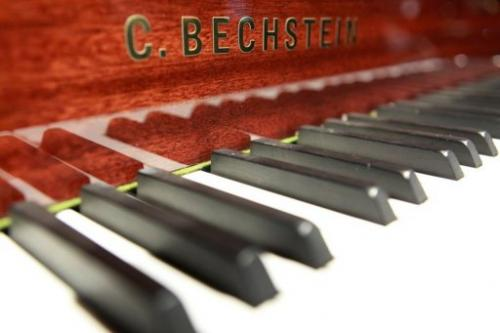 The keys  of a Bechstein piano at their store in Berlin on June 9, 2010